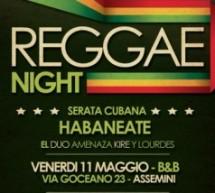 REGGAE NIGHT -B&B-11 MAGGIO