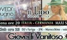 GIOVEDI VANITOSO LIDO BEACH CLUB – GIOVEDI 28 GIUGNO