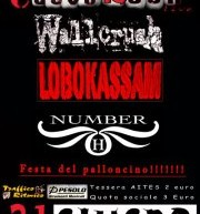 FESTA DEL PALLONCINO – WALLCRUSH-LOBOKASSAM-NUMBER H LIVE – CUEVA ROCK – GIOVEDI 21 GIUGNO