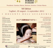 XII EDIZIONE FESTIVAL DELL'ACCADEMIA INTERNAZIONALE DI MUSICA DI CAGLIARI – 29 AGOSTO-6 SETTEMBRE