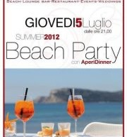 APERIDINNER & BEACH PARTY – FRONTEMARE – GIOVEDI 5 LUGLIO
