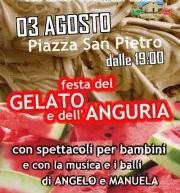 FESTA DEL GELATO E DELL'ANGURIA – VILLA S. PIETRO – VENERDI 3 AGOSTO