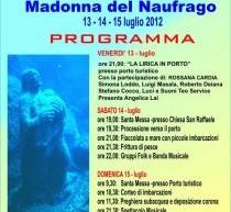 FESTA DELLA MADONNA DEL NAUFRAGO – VILLASIMIUS- 13-15 LUGLIO