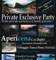 PRIVATE EXCLUSIVE PARTY – GUAX DJ – VILLAGGIO TANCA PIRAS – NEBIDA- LUNEDI 6 AGOSTO