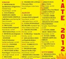 TEULADA ESTATE 2012 – CALENDARIO EVENTI -14  LUGLIO- 2 SETTEMBRE
