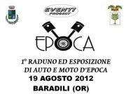1° RADUNO ED ESPOSIZIONE AUTO E MOTO D'EPOCA – BARADILI – 19 AGOSTO