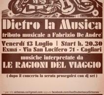 DIETRO LA MUSICA – TRIBUTO A DE ANDRE' – EXMA' – VENERDI 13 LUGLIO