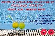 PISCINA PARTY – TENNIS CLUB MARGINE ROSSO – GIOVEDI 19 LUGLIO