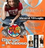 WE LOVE THE 90'S – PREZIOSO E DATURA – VILLA PASCIA' – VENERDI 13 LUGLIO