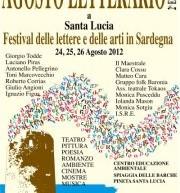 AGOSTO LETTERARIO – FESTIVAL DELLE LETTERE E DELLE ARTI – SANTA LUCIA – 24-26 AGOSTO