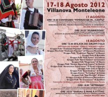 12th EDITION PEOPLE OF SARDINIA – VILLANOVA MONTELEONE- 17 TO 18 AUGUST