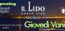 GIOVEDI VANITOSO – LIDO BEACH CLUB – GIOVEDI 30 AGOSTO