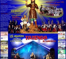 312° S.ISIDORO FESTIVAL AND TAZENDA LIVE – TEULADA -18 TO 19 AUGUST