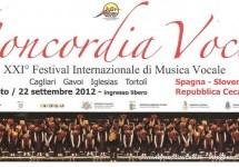 CONCORDIA VOCIS – XXI FESTIVAL INTERNAZIONALE DI MUSICA VOCALE – CAGLIARI,TORTOLI, IGLESIAS,GAVOI – 28 AGOSTO-22 SETTEMBRE