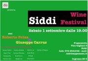 SIDDI WINE FESTIVAL – SIDDI – SABATO 1 SETTEMBRE ORE 19