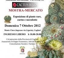 MOSTRA MERCATO CACTUS & co – PARCO DI MONTE CLARO – CAGLIARI – DOMENICA 7 OTTOBRE