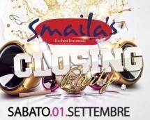CLOSING PARTY – SMAILA'S – VILLASIMIUS – SABATO 1 SETTEMBRE