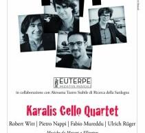 KARALIS CELIO QUARTET LIVE – TEATRO DELLE SALINE – CAGLIARI – SABATO 15 SETTEMBRE ORE 20,30