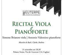 RECITAL VIOLA E PIANOFORTE – PALAZZO SIOTTO -CAGLIARI – VENERDI 21 SETTEMBRE ORE 20,30