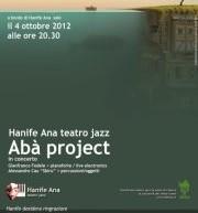 ABA PROJECT – HANIFE ANA – ORISTANO – GIOVEDI 4 OTTOBRE