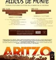 ALLICOS DE MONTE – ITINERARIO ENOGASTRONOMICO- ARITZO – 13-14 OTTOBRE