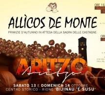 ALLICOS DE MONTE -PRIMIZIE D'AUTUNNO -ARITZO – 13-14 OTTOBRE