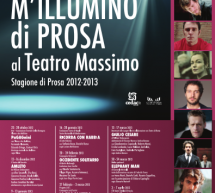 LIGHTING OF PROSE – MASSIMO THEATRE – CAGLIARI – SEASON 2012/2013