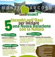 INCONTRI NELL'OASI DI MONTE ARCOSU – SABATO 20 OTTOBRE, 10-17-24 NOVEMBRE