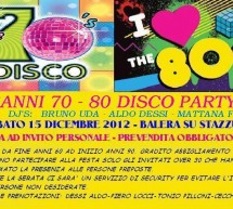 70-80 DISCO PARTY – BALERA SU STAZZU – SATURDAY DECEMBER 15 AT 11:00 PM