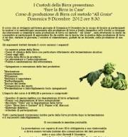 COME FARE LA BIRRA IN CASA – DOMENICA 9 DICEMBRE