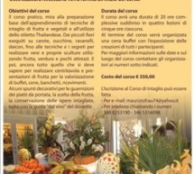 COURSE OF FRUIT AND VEGETABLE CARVING – PULA – FROM NOVEMBER 5