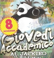 GIOVEDI ACCADEMICO – JACKIE O- CAGLIARI – GIOVEDI 8 NOVEMBRE