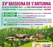 15th S'ANTUNNA FESTIVAL – MACOMER – 23 TO 25 NOVEMBER