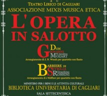 OPERA IN THE LIVING ROOM – UNIVERSITY LIBRARY – CAGLIARI – SUNDAY NOVEMBER 25
