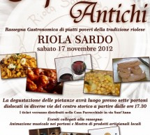 OLD TASTE – RIOLA SARDO – SATURDAY NOVEMBER 17