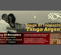 STAGE INITIATION OF THE ARGENTINE TANGO – CAGLIARI – SUNDAY NOVEMBER 25