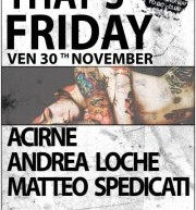 THAT'S FRIDAY – WASABI CLUB – CAGLIARI – FRIDAY NOVEMBER 30