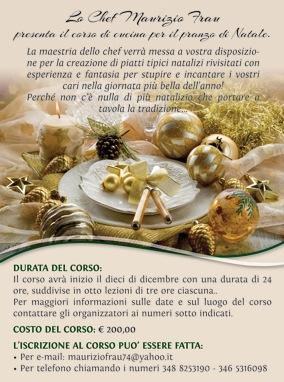 corso di cucina per il pranzo di natale cagliari 10 20 dicembre lo chef maurizio frau presenta il corso di cucina
