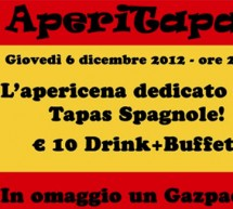 APERITAPAS – THE SHOW KITCHEN – CAGLIARI – THURSDAY DECEMBER 6