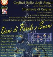 GIFTS OF WORDS AND SOUNDS – CAGLIARI – THURSDAY DECEMBER 6