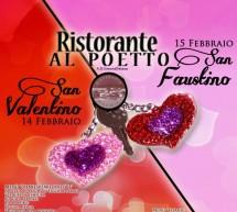 <!--:it-->MENU SAN VALENTINO & SAN FAUSTINO – RISTORANTE AL POETTO – CAGLIARI – 14-15 FEBBRAIO<!--:--><!--:en-->VALENTINE'S and FAUSTINO'S DAY – AL POETTO RESTAURANT – CAGLIARI – FEBRUARY 14 TO 15<!--:-->