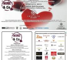 <!--:it-->WINE & CO 2013 – CONVENTO SAN GIUSEPPE – CAGLIARI – LUNEDI 24 GIUGNO<!--:--><!--:en-->WINE & CO 2013 – CONVENTO SAN GIUSEPPE – CAGLIARI – MONDAY JUNE 24<!--:-->