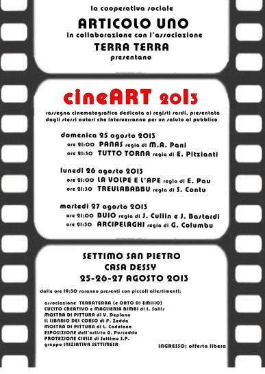 Cineart 2013 settimo san pietro 25 26 27 agosto for Due esse arredamenti settimo san pietro