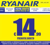 <!--:it-->VOLI RYANAIR A PARTIRE DA 14,99 € – FINO A LUNEDI 9 SETTEMBRE 2013<!--:--><!--:en-->FLY RYANAIR FROM 14,99 € – UNTIL MONDAY SEPTEMBER 9<!--:-->