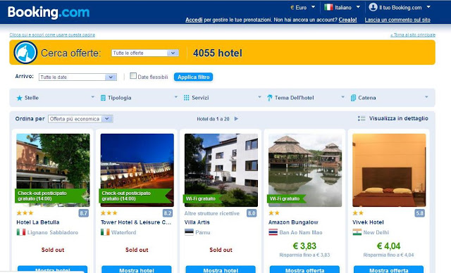 OFFERTA SUPERSEGRETA BOOKING