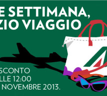<!--:it-->SCONTO 15% SUI VOLI ALITALIA – SCADE LUNEDI 11 NOVEMBRE 2013<!--:--><!--:en-->DISCOUNT 15% FOR FLY ALITALAI – EXPIRES MONDAY NOVEMBER 11<!--:-->