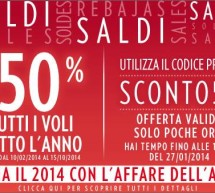 <!--:it-->SALDI MERIDIANA: 50% SU TUTTI I VOLI PER TUTTO IL 2014 – SCADE IL 27 GENNAIO 2014<!--:--><!--:en-->SALES MERIDIANA: 50% OFF FOR ALL FLY ALL 2014 – UNTIL JANUARY 27,2014<!--:-->