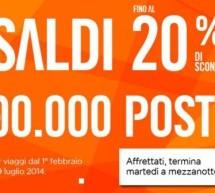 <!--:it-->SALDI EASYJET – FINO AL 20% SCONTO SUI VOLI – FINO A MARTEDI 7 GENNAIO 2014<!--:--><!--:en-->SALES EASYJET – 20% DISCOUNT – UNTIL TUESDAY JANUARY 7,2014<!--:-->