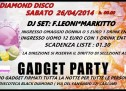 GADGET PARTY – BLACK DIAMOND – CAGLIARI – SATURDAY APRIL 26,2014