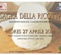 <!--:it-->SAGRA DELLA RICOTTA – MORES – DOMENICA 27 APRILE 2014<!--:--><!--:en-->CHEESE FESTIVAL – MORES – SUNDAY APRIL 27,2014<!--:-->